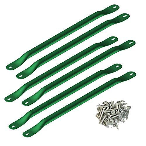 Swing-N-Slide WS 4564 Metal Monkey Bars with Six 215 Metal Rungs with Hardware Green