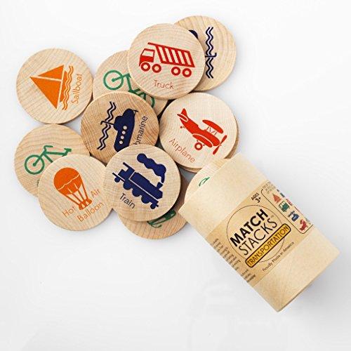 Tree Hopper Toys - Transportation Match Stacks