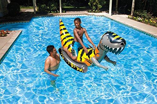Poolmaster T-Rex Ride-On Dinosour Jumbo Swimming Pool Float Rider