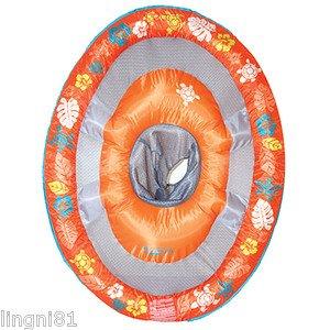 Swimways Baby Spring Float Sun Canopy - Orange with designs