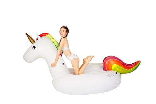 MarlJohns Giant Inflatable Unicorn Pool Float