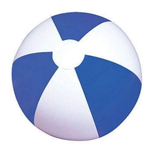 LOT of 12 Beach Balls 12 Beachball Ball Pool Party Blue White