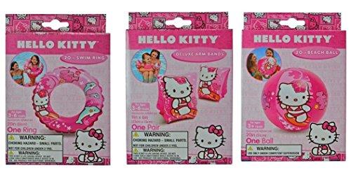 Hello Kitty Bundle- 3 Items  20 Swim ring Swim Arm Bands 20 Beach Ball