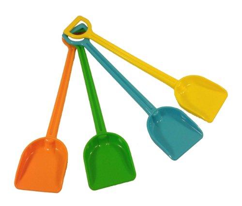 Kids Beach Sandbox Durable Plastic Toy Shovels - Set of 4