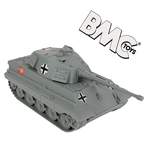 BMC WWII Gray German King Tiger Toy Tank 132 Scale for 54mm Army Men Soldier Figures