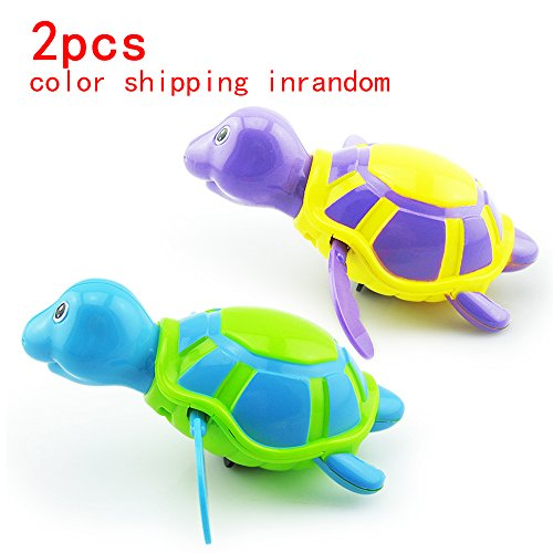 Bath Toy Baby Shower Toys Animals Tortoise Swimming Pool Beach TurtleFloat Wind up Play Toys Bathtub Tools for Baby and Kids2Pcs