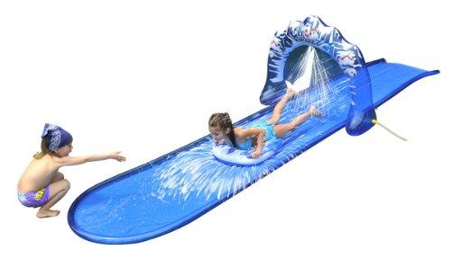 Slip and Slide Waterslide - Icebreaker Water Slide with Racing Raft and Water Sprayer - Over 16 Ft Long by Jilong
