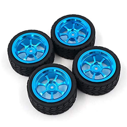 DragonPad Toys Hobby Alloy Rim and Tires with 7mm to 12mm Adapter for 118 WLtoys A959-B A949 A959 A969 A979 K929 RC Car Parts Aluminium Alloy Wheels 4PCSSet 4PCS