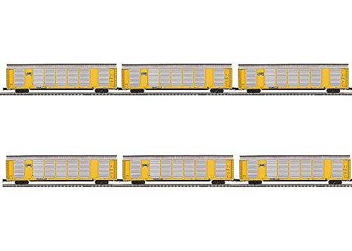 MTH MTH2092045 O Corrugated Auto Carrier CSX 1 6