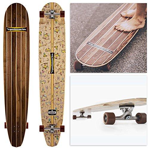Hamboards Logger Longboard Skateboard Walnut Stringer