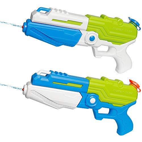 D-FantiX Water Gun 2 Pack Super Water Blaster Soaker Squirt Guns Bulk High Capacity Summer Beach Pool Party Favors Water Outdoor Fighting Toy for Kids Adults Boy Girl
