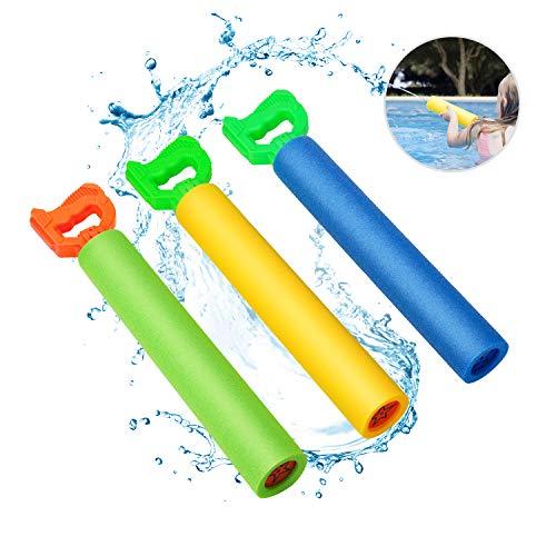 Water Guns for Kids Blaster Water Guns Shooting Up to 30 Feet Light Weight Super Soaker Foam Water Guns for Swimming Pool Back Yard Outdoor Beach Drifting Summer Fun Toys 3 Pack