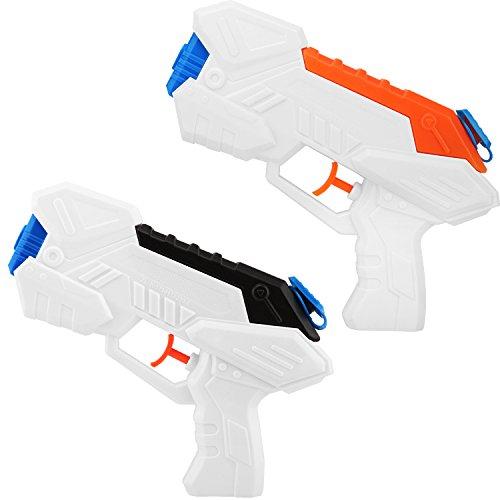 Zooawa Water Gun Blaster Pump 2 Packs Water Blaster Shooting Water Pistols Kids Party Favor Toy for Summer Swimming Pool Beach Backyards Black  Orange