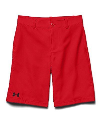 Under Armour Big Boys UA Medal Play Golf Shorts YXL RISK RED Color RISK REDBlack Size X-Large Model 1251669-600