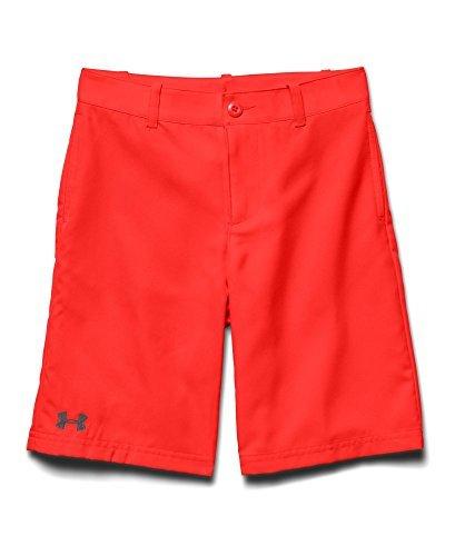 Under Armour Big Boys UA Medal Play Golf Shorts YXS BOLT ORANGE Color BOLT ORANGEGraphite Size X-Small Model 1251669-810