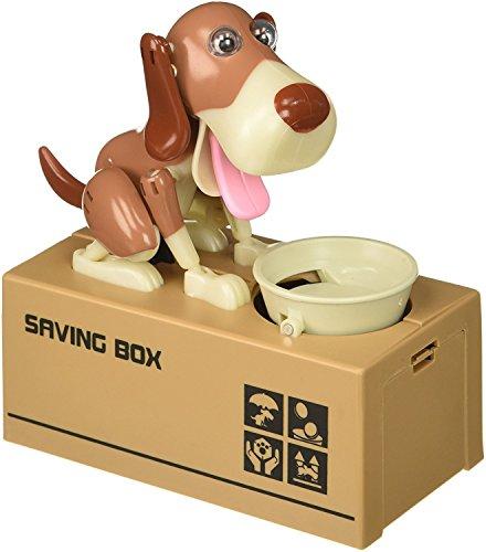 JOYFUN My Dog Piggy Bank - Robotic Coin Munching Toy Money Box