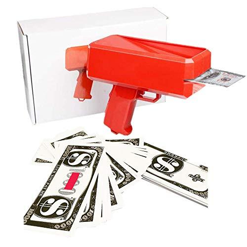 JULAN Cash Money Gun Super Gun Spray Gun Making A Cash Rain Money Toy Gun Shooter Toy Gun Cash Fashion Money Gun Toys Contains 200PCS Props Money Shoot Some Supreme Fun into Your Party or Wedding
