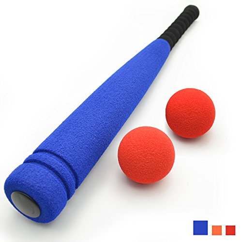 Carry Bag Included CELEMOON Super Safe Kids Foam Baseball Bat Toys with 2 Balls Portable Carrying Bag Included For Children Age 3 to 5 Years Old Blue