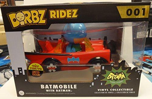 2015 Comic Con Excusive Dorbz Ridez Red Batmobile with Batman by Toy Tokyo