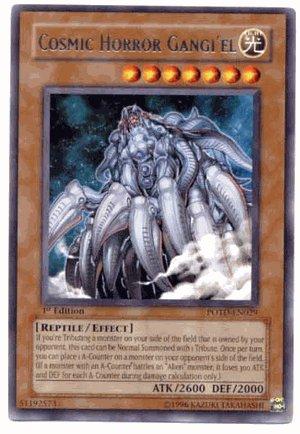 Yu-Gi-Oh Power of the Duelist - Cosmic Horror Gangiel Rare POTD-EN029