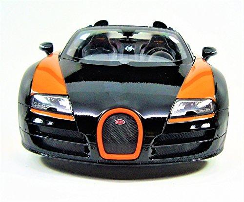 Bugatti Veyron Vitesse RC Sport Car Model 114 Scale OrangeBlack Stripes color
