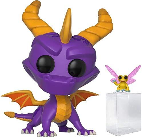 Funko Pop Games Spyro The Dragon - Spyro and Sparx Vinyl Figure Bundled with Pop Box Protector Case