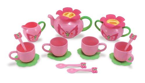 Melissa Doug Sunny Patch Bella Butterfly Tea Set 17 pcs - Play Food Accessories