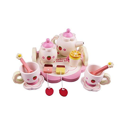 Playskool Tea Set  Set of 12 pcs Adorable Pretend Play Tea Set Complete with Cups Teaspoons Saucers Tea Bags Teapot Creamer Pot Sugar Container  Leak-Free Dishwasher Safe Easy Handle  13762