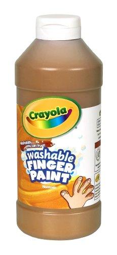 Crayola Washable Fingerpaint Art Tools 32-Ounce Plastic Squeeze Bottle Bright Bold Colors Brown