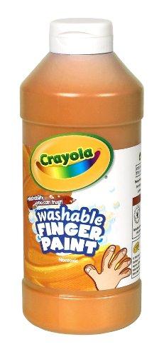 Crayola Washable Fingerpaint Art Tools 32-Ounce Plastic Squeeze Bottle Bright Bold Colors Orange
