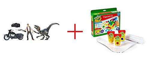 Jurassic World Alpha Raptor Pack and My First Crayola Finger Paint Kit - Bundle