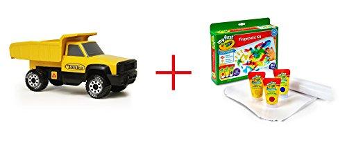 Tonka Quarry Dump Truck and My First Crayola Finger Paint Kit - Bundle