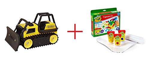 Tonka Toughs Bulldozer and My First Crayola Finger Paint Kit - Bundle