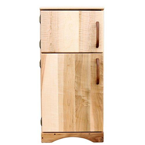 Camden Rose Simple Fridge Childs Maple Wood Play Refrigerator