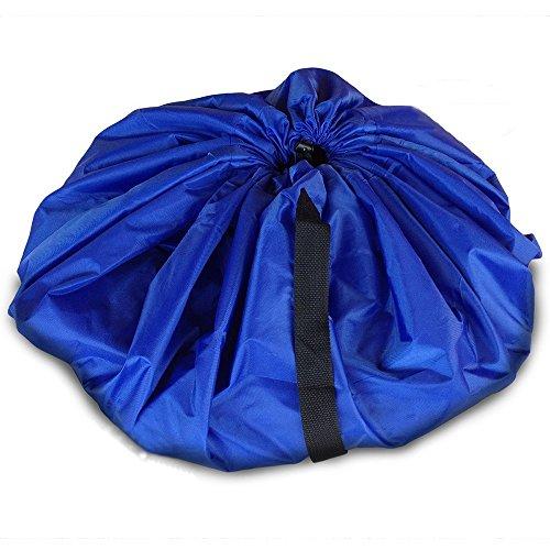 Gilroy Kids Children Play Floor Mat Toys Storage Bag Organizer Pouch - Blue S