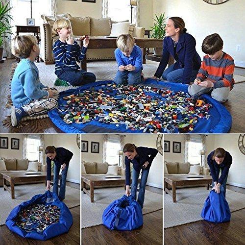 VshareChildrens Play Mat and Toys Storage Bag 60 inch Buddy Toy Organizer