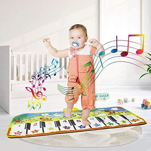 Keyboard Playmat Piano Blanket Floor Play Mat Musical Dance Keyboard Mats for Kids