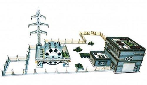 10mm Scale Standard Terrain Urban Power Plant painted Unassembled