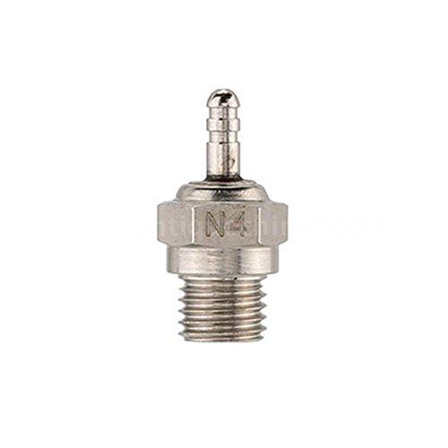 Sangdo 2 Pcs 70117 N4 Glow Plug Spark Plug for 110 HSP RC Car Durable KC3T