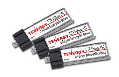 Combo 3 Pcs Tenergy 37V 160mAh 15C LiPo Batteries for Micro Helicopters E-flite MSR SR BMCX