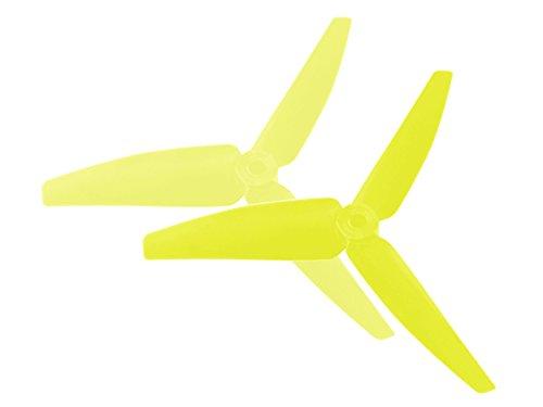 Microheli Plastic 3 Blade Propeller 82mm Tail Blade YELLOW - BLADE 200 SRX