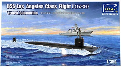 Riich 1350 USS Los Angeles Class Flight I 688 Attack Submarine Kit RN28005