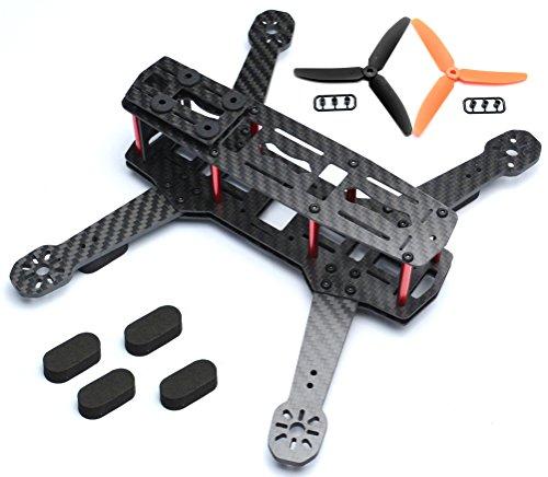 Readytosky ZMR250 H250 Carbon Fiber Quadcopter Multicopter Frame Kit 4 MM arm with shock absorber cotton gift