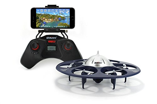 UDI U845 Voyager WiFi FPV UFO HexaCopter RC Drone with Real-time Aerial Photography 720P HD Camera App Controllable by Smart Devices