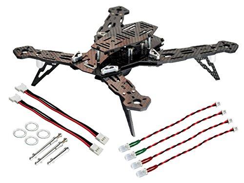 Microheli CNC ALCarbon Fiber Racing Quadcopter Frame Kit - BLADE 200 QX