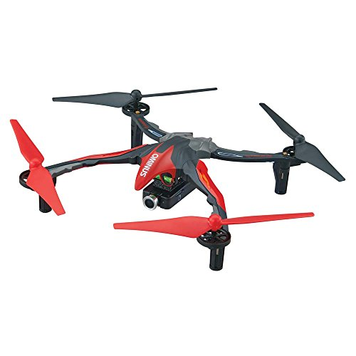 Dromida Ominus First-Person View FPV Unmanned Aerial Vehicle UAV Quadcopter Ready-to-Fly RTF Drone with Radio System Batteries and USB Charger Red