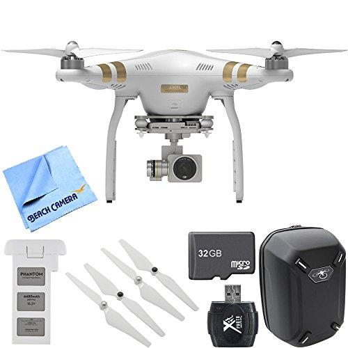 DJI Phantom 3 Professional Quadcopter Drone with 4K Camera Mobile Command Kit includes Phantom 3 Quadcopter Battery Backpack Propeller Set 32GB Memory Card Card Reader and Beach Camera Cloth
