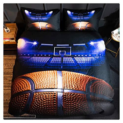 Homebed 3D Sports Basketball Bedding Set for Teen BoysDuvet Cover Sets with PillowcasesFull Size3PCS1 Duvet Cover2 Pillow Shams
