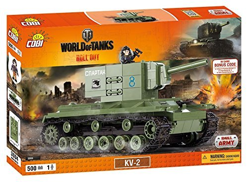 World of Tanks 3004 Russian Heavy Tank KV 2 500 building bricks by Cobi by Small Army