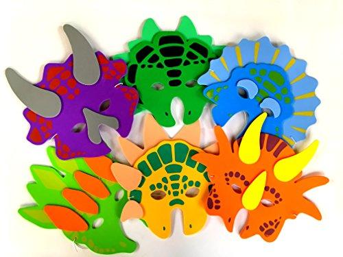 1 Dozen Foam Dinosaur Masks Party Favors For Children by Playscene 12 Dinosaur Masks